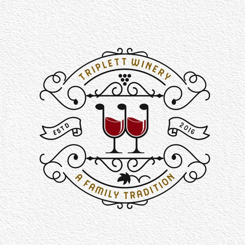 winery logo in vintage style