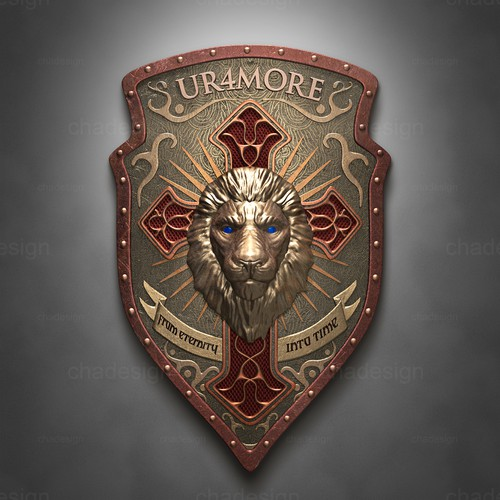 "Custom shield ""UR4MORE"""