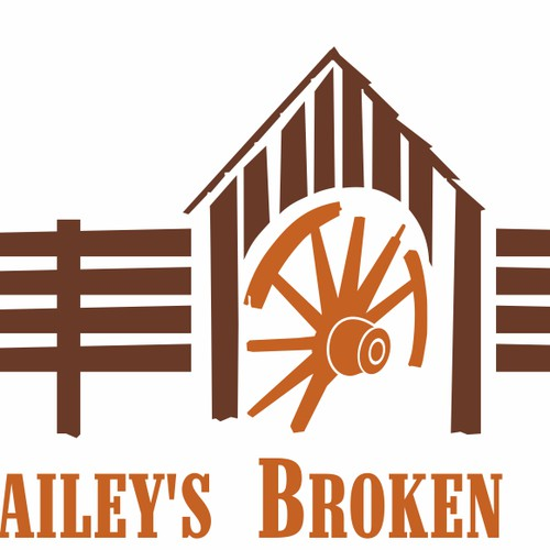 "Capture multiple farm animals/activities into one Logo for ""Broken Spoke Farm"""