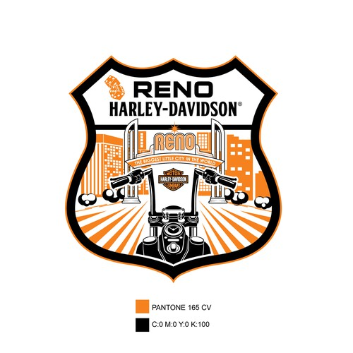 Logo concept for Harley Davidson dealer