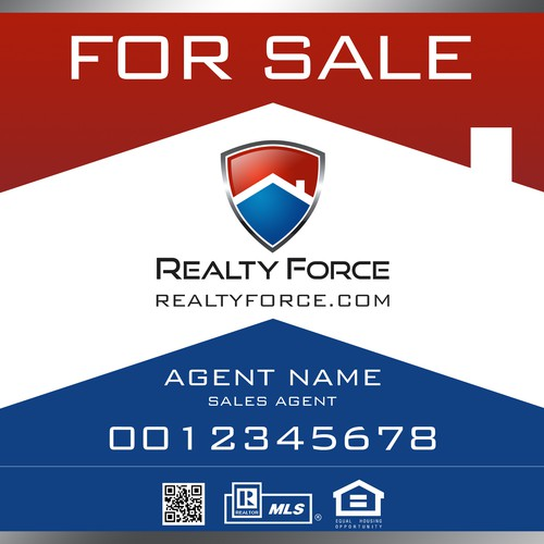 Realty Force Real Estate Sign