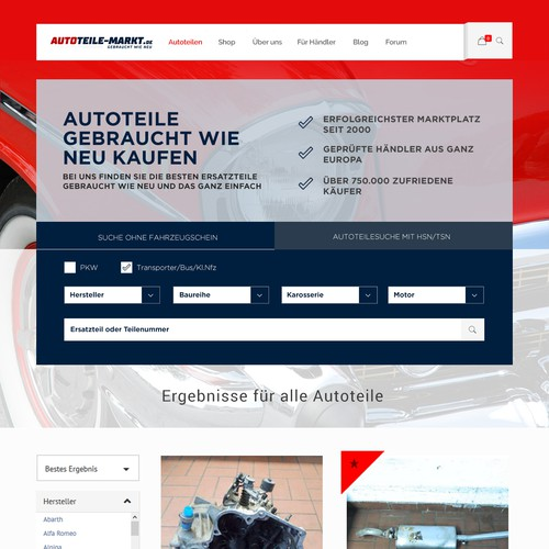 Responsive website for Online Spare Car shop