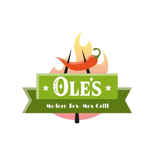 Logo concept for Tex-Mex grill restaurant