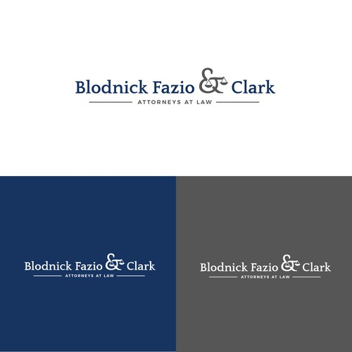 Simple logo concept for Blodnick Fazio & Clark