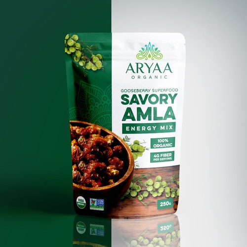 Clean and memorable design for Aryaa Organic