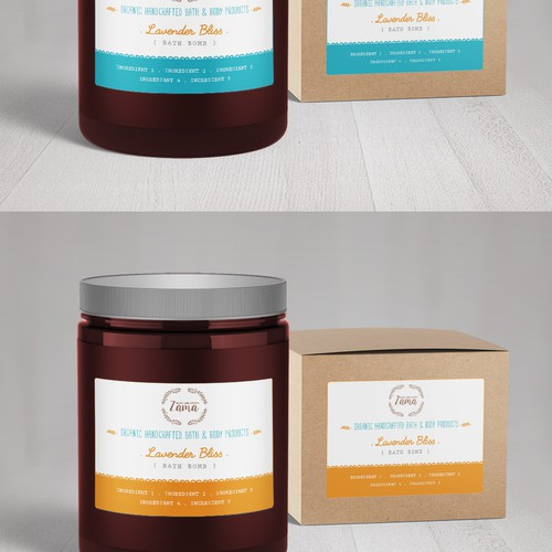 Organic Natural Bath and Body Product Line Labels