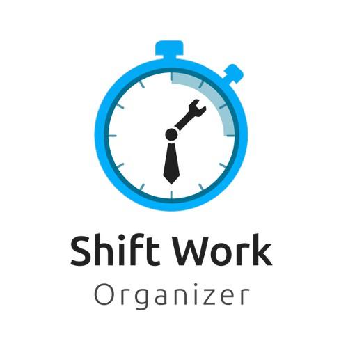 Logo concept For shift work organizer app