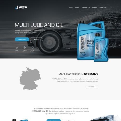 Multi Lube & Oil website design and development