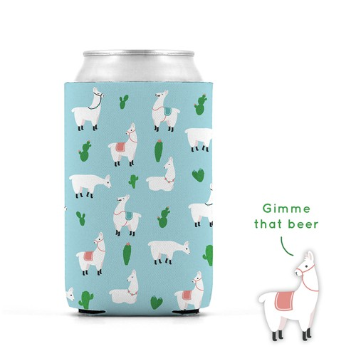Llama pattern for beer cooler