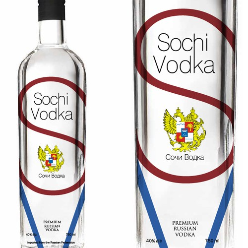 Help Sochi Vodka with a new print or packaging design