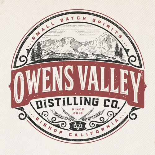Logo Design for Owens Valley Distilling Co