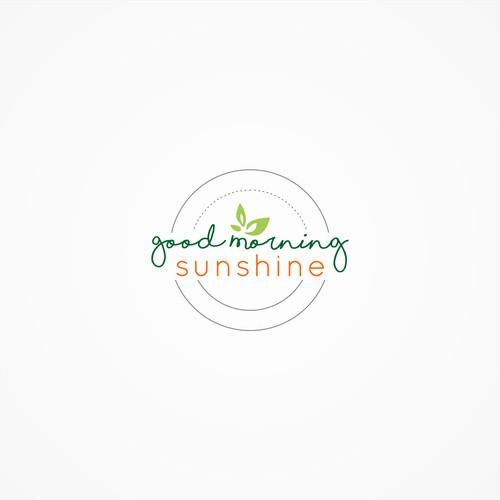 logo concept for good morning sunshine