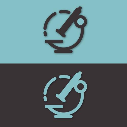 Circular Microscope Logo Concept
