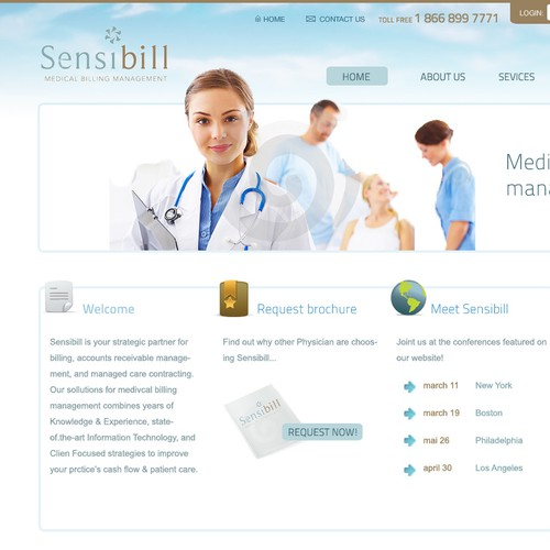 Medical Billing  website redesign