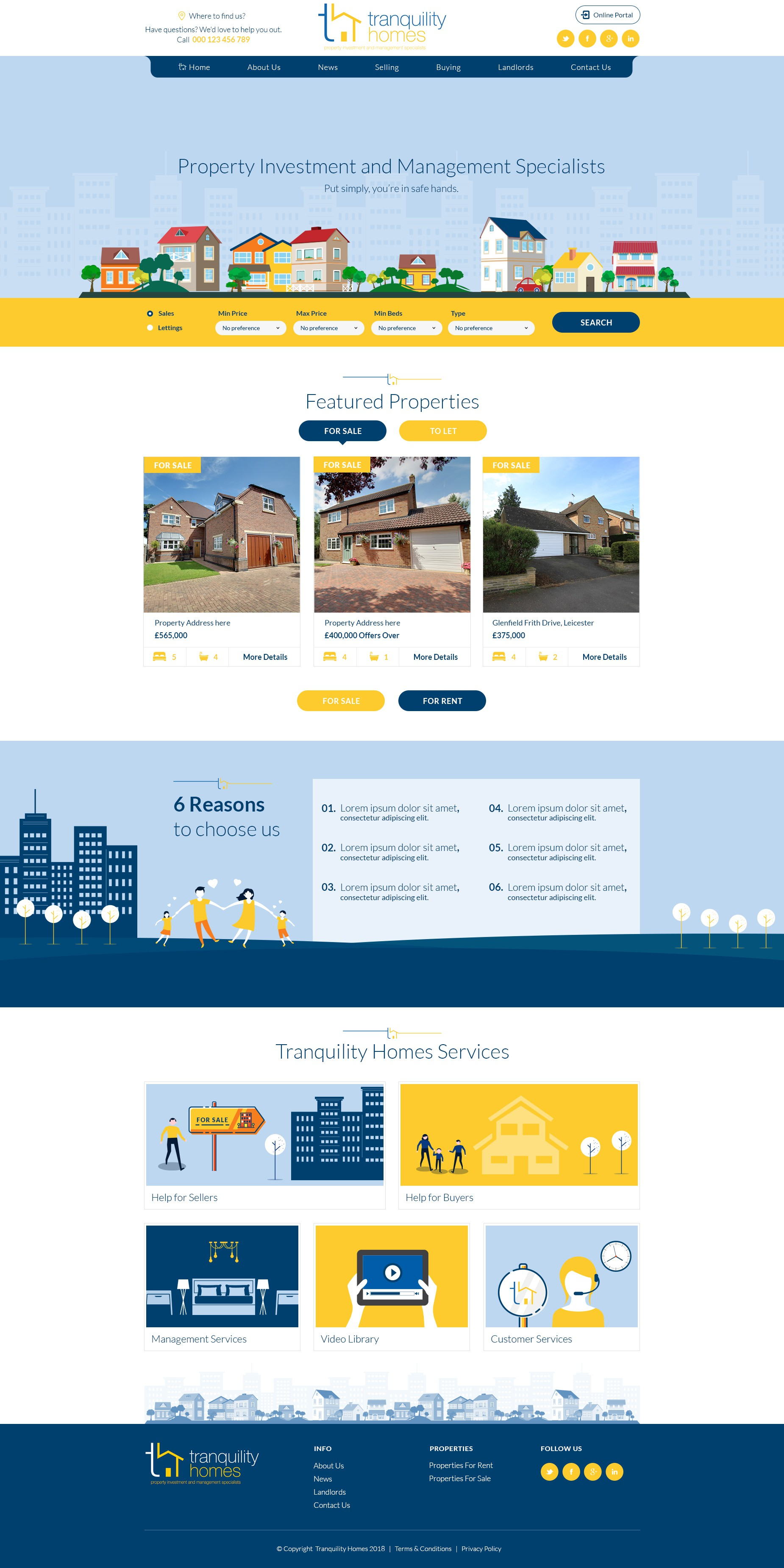 Design a boutique stylish website for property company