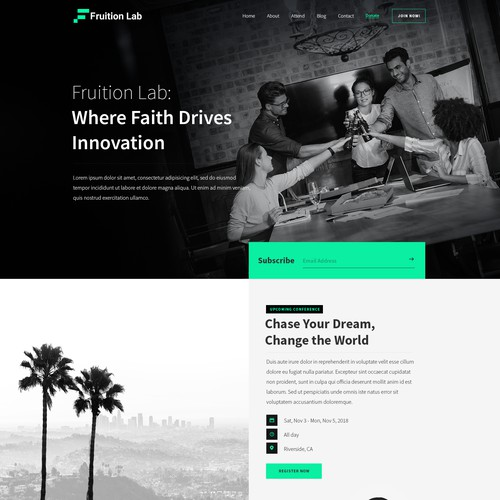 Fruition Lab Homepage design