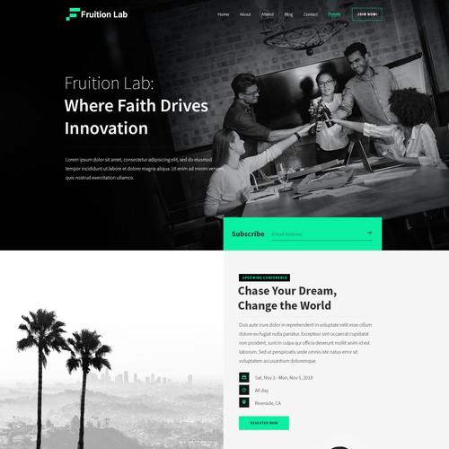 Fruition Lab Homepage design