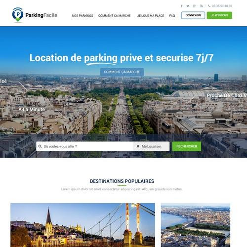 Park Facile  Web Site Design