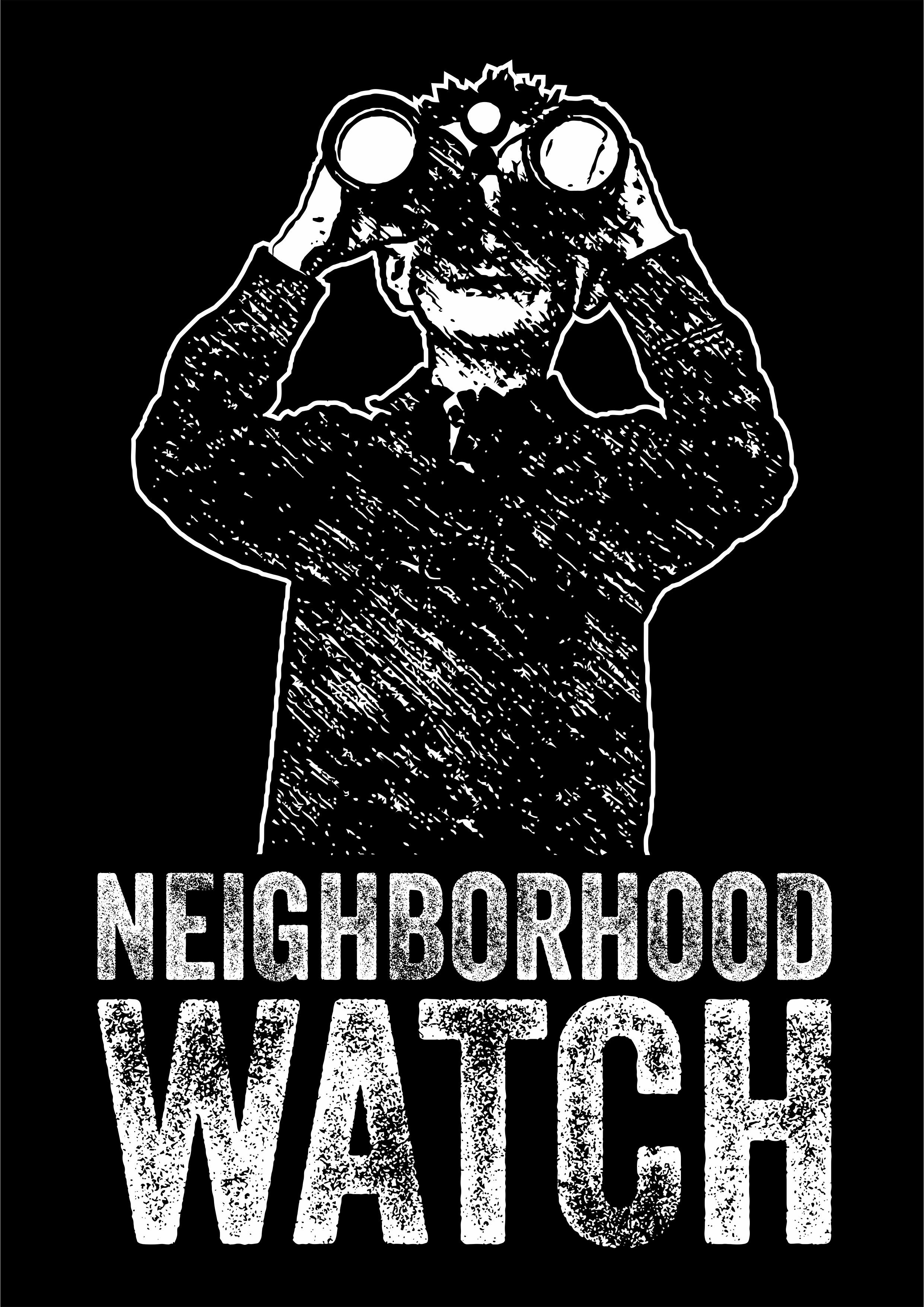 Creativity welcome for church logo inspires by neighborhood watch