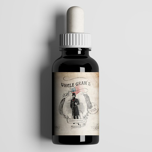 E liquid label for Uncle Gran's