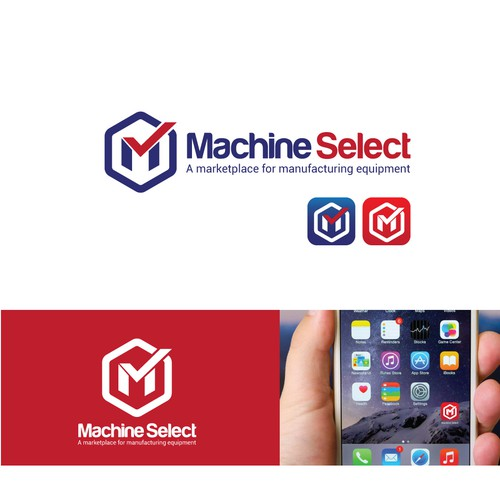 Bold logo for machine select