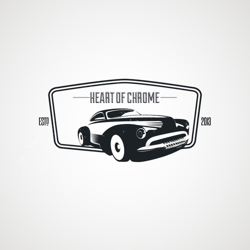 vintage logo for heart of chrome