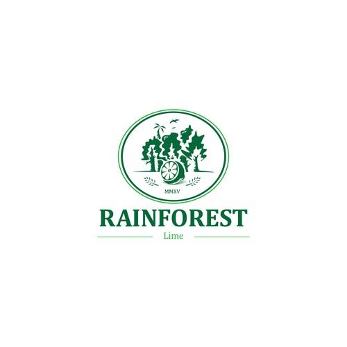 classic modern logo for rainforest lime