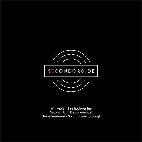 Modern logo for secondoro fashion store