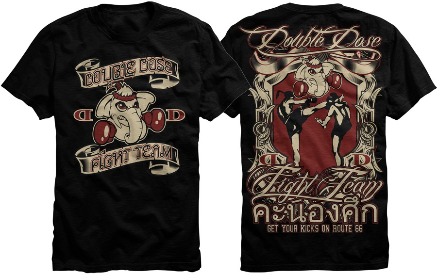Design a T-Shirt for top Muay Thai Kickboxing School in USA