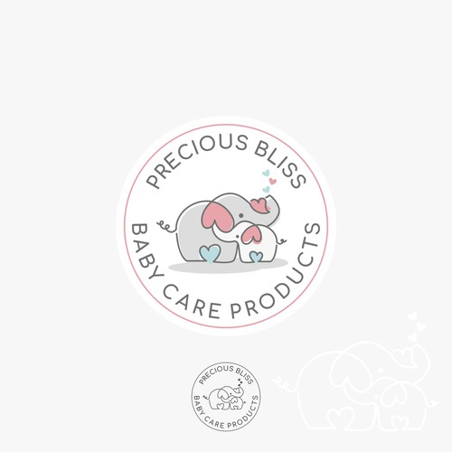 Whimsical Baby Care Product Logo