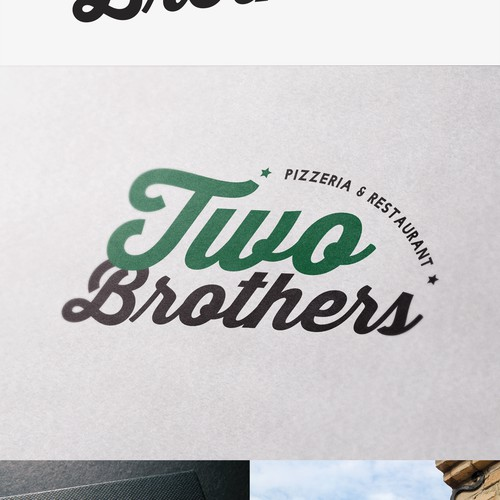 Create a trendy logo for a neighborhood pizza place
