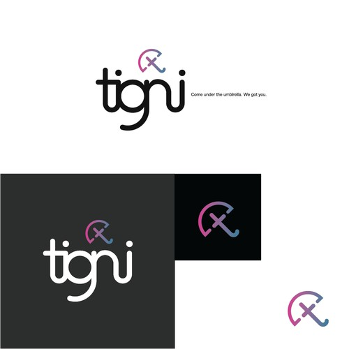Clean, modern, comforting logo for technology business