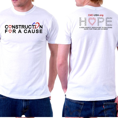 Construction for a Cause t-shirt design