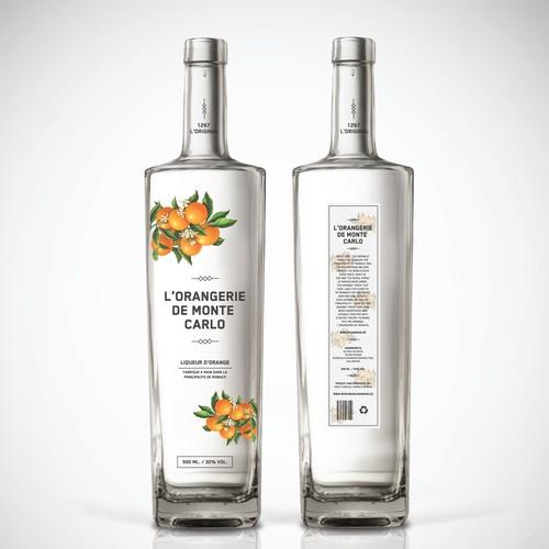 Orange Liquer Packaging Design