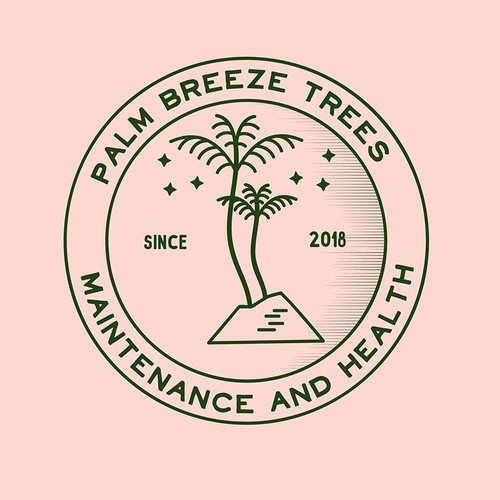 logo concept for palm tree maintainance company