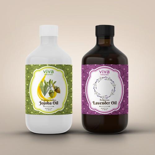 Lavender & Jojoba Oil Label