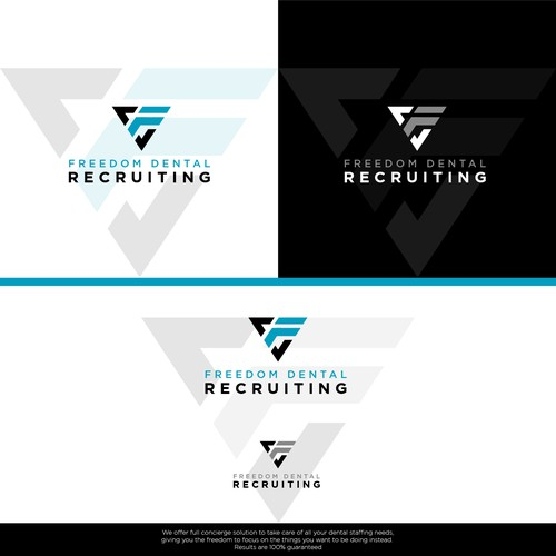 Minimalist and Bold Logo Design for a Dental Staff Recruiting Company