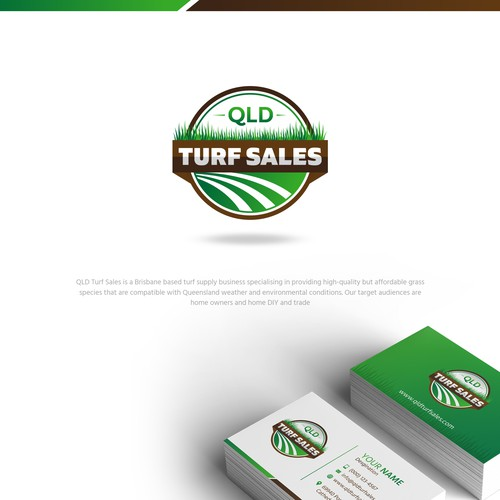 Design a bold and classic logo for a turf supply company