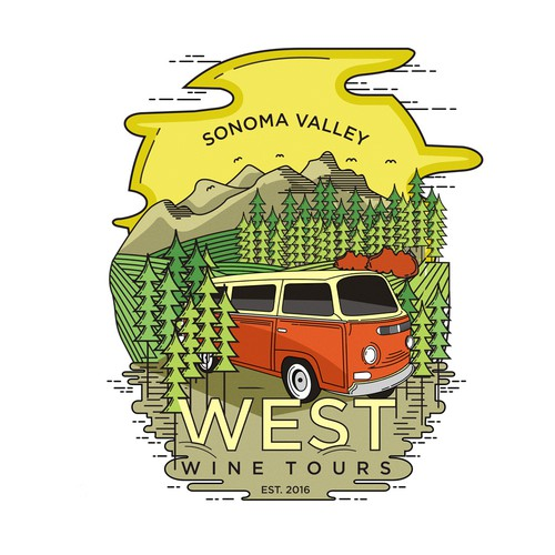 sonoma valley illustration