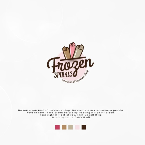 Playful logo for ice cream shop