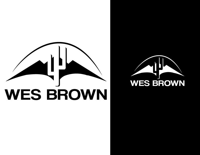 Arizona themed Logo for a clothing brand named 'Wes Brown'