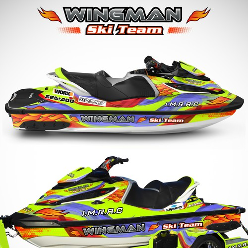 Jet Ski Wrap For Wingman Ski Team