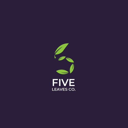 Leaves + five Logo for Retail company