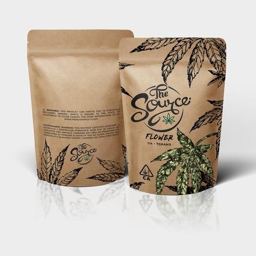 Cannabis Flower Bag Design