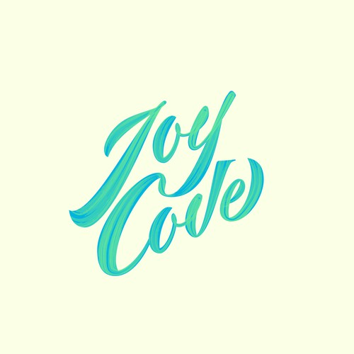 Joy cove lettering design