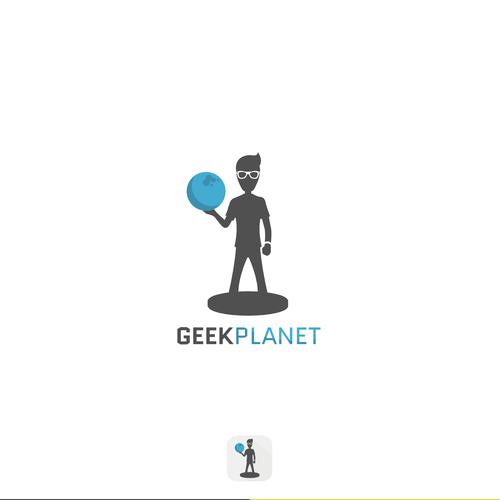 "Logo concept for ""Geek Planet"""