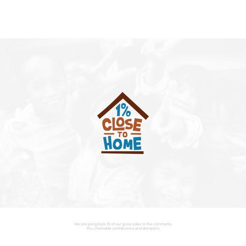 1 % Close To Home Logo