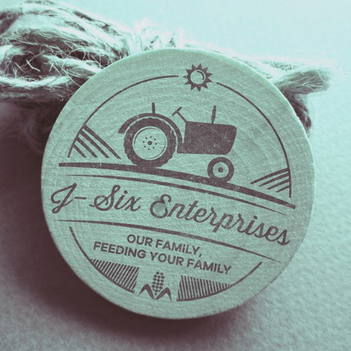 Create an awesome company logo for J-Six Enterprises who is a full-circle  Agriculture Company