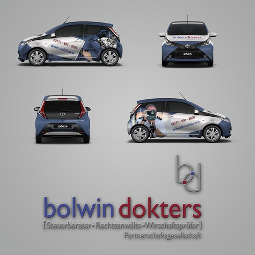 Car wrap for a law firm that specializes in car/traffic accidents
