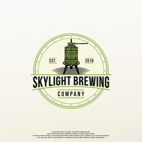 logo concept for Skylight Brewing Company